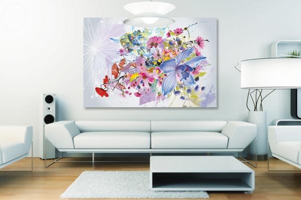 tableau moderne coloré fleurs izoa