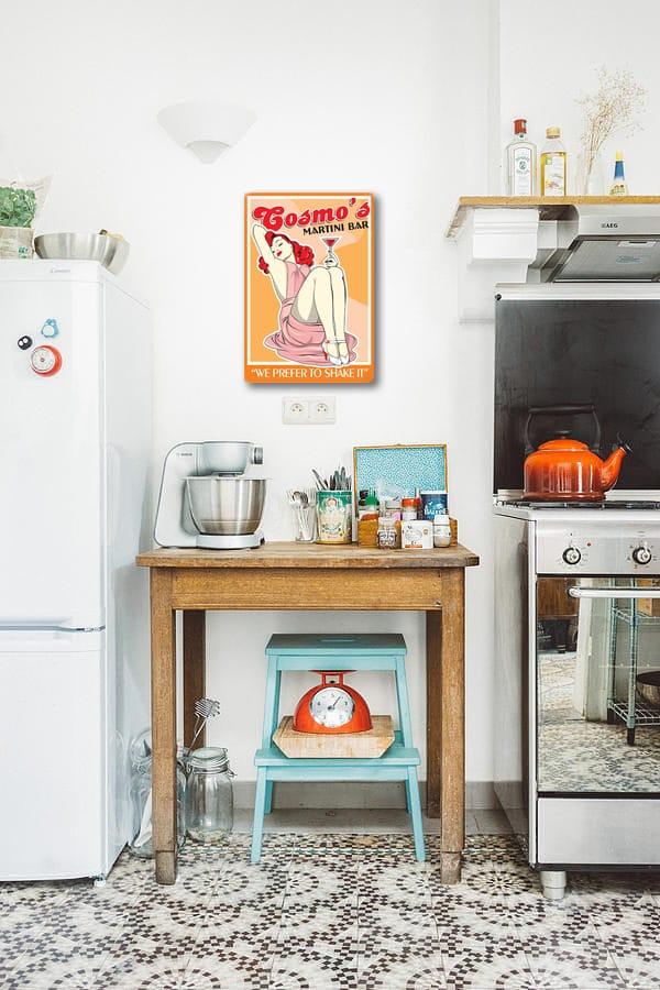 tableau cuisine vintage orange