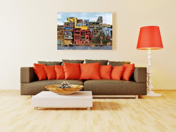 Tableau multicolore favelas
