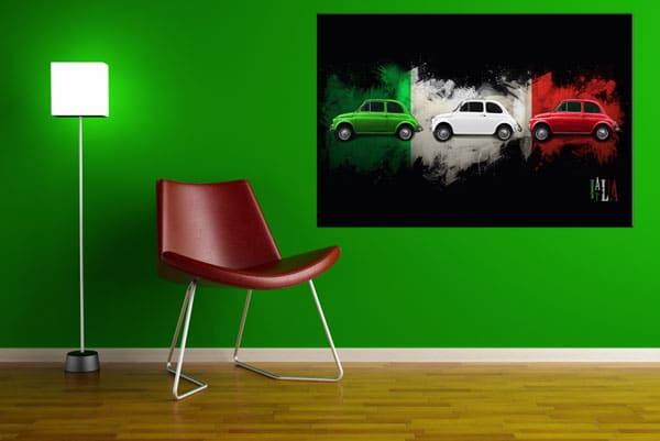 tableau coloré moderne fiat 500 Izoa