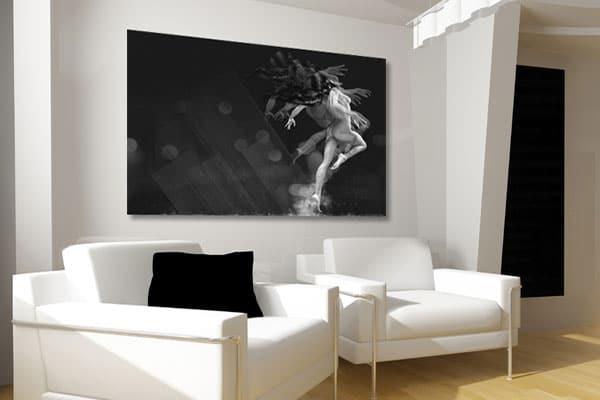 tableau femme nu noir et blanc Izoa