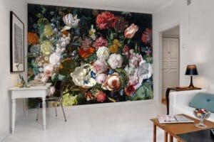 papier-peint-fleuri-decoration-salon