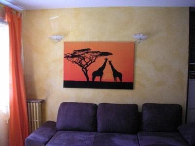 déco africaine tableau savane izoa