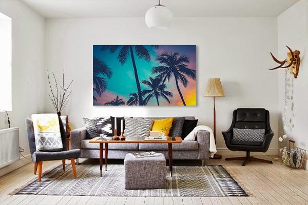 Toile décorative murale Palmiers tropicaux