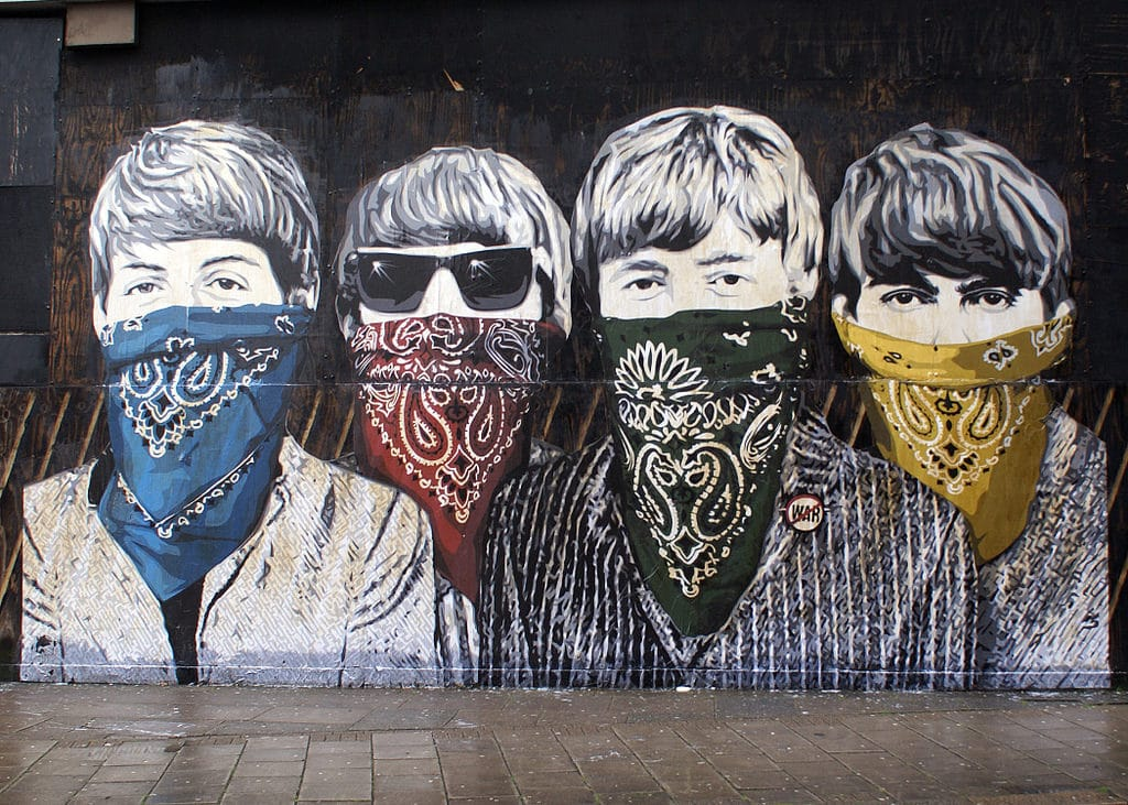 Fresque murale Street art par Mr Brainwash, Londres