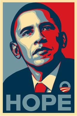 "Poster ""Hope"" par Shepard Fairey - 2008"