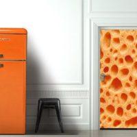 décoration porte intérieure orange