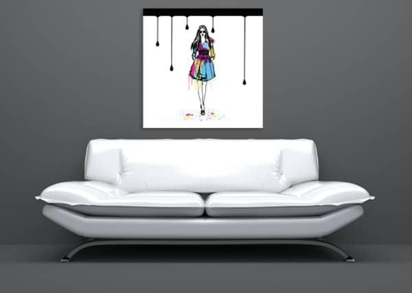 tableau tendance fashion girl