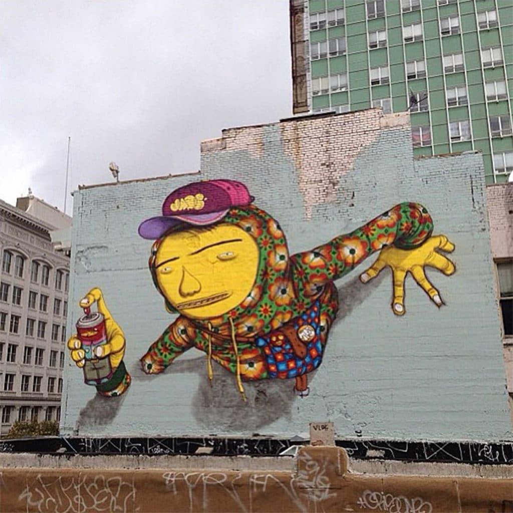 Nom inconnu, par Os Gemeos, San Francisco - 2013