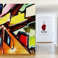 Papier peint graffiti street art par Izoa