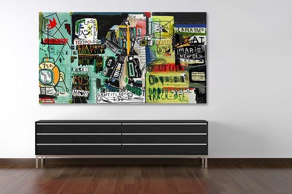 "Tableau street art ""Capharnaum"" par Izoa"