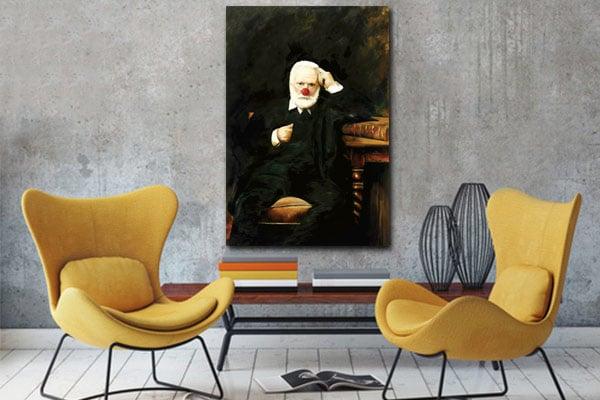 tableau toile Victor Hugo
