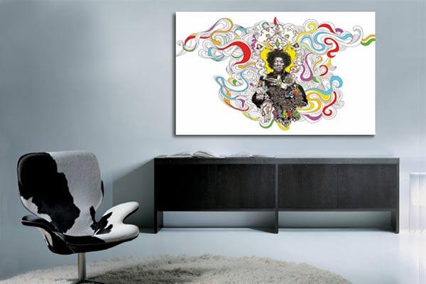 tableau art moderne jimi hendrix