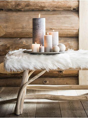 accessoire déco cosy : les bougies