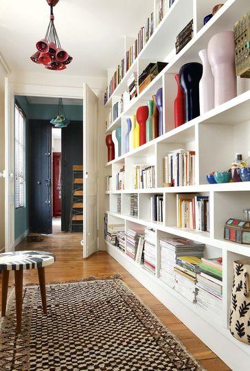 décorer un couloir avec rangements