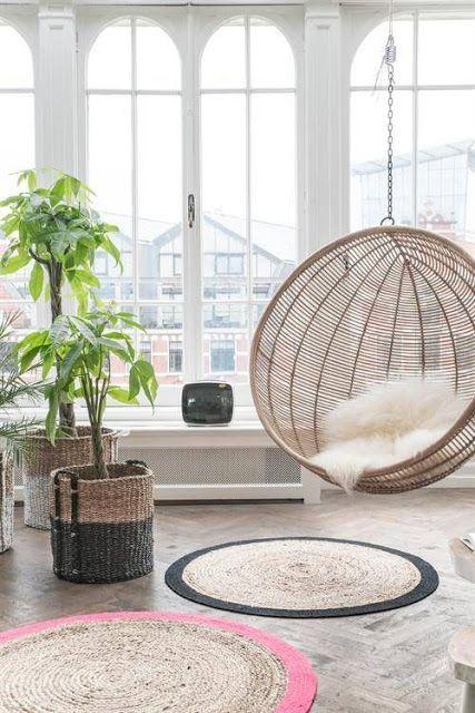 déco salon cosy avec plante verte