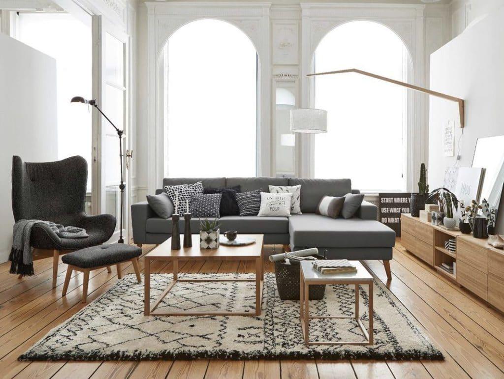 d coration salon un salon accueillant blog izoa. Black Bedroom Furniture Sets. Home Design Ideas