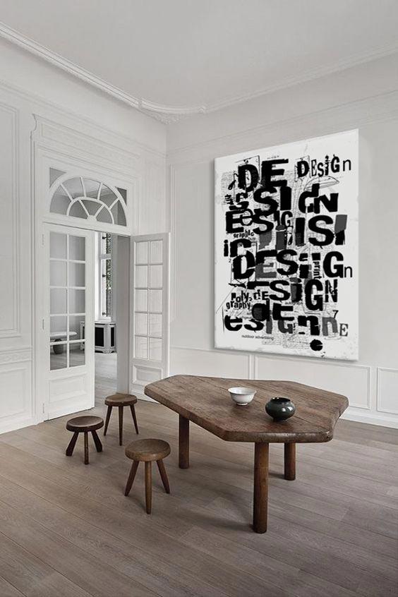 tableau-grand-format-design-noir-et-blanc