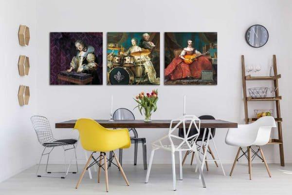 tableaux triptyque baroque Izoa