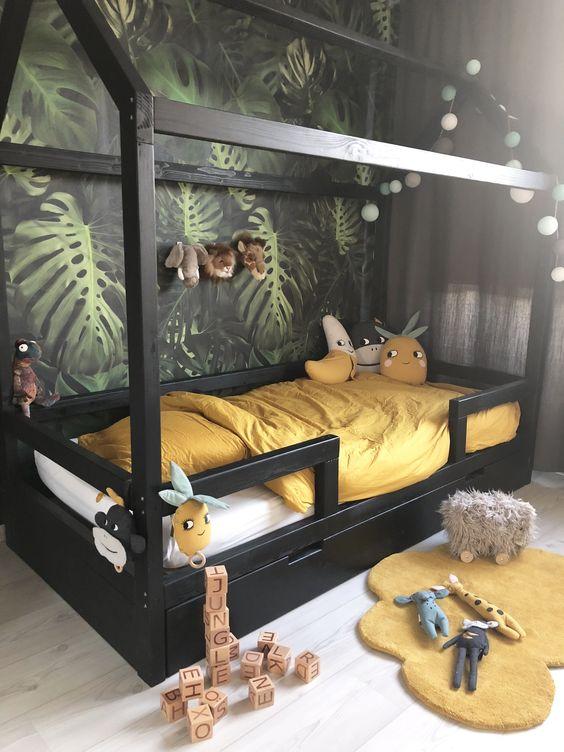 papier peint jungle décoration murale chambre enfant