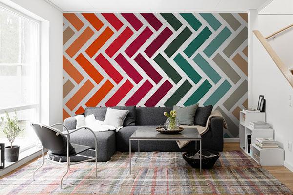 papier peint moderne motif chevron